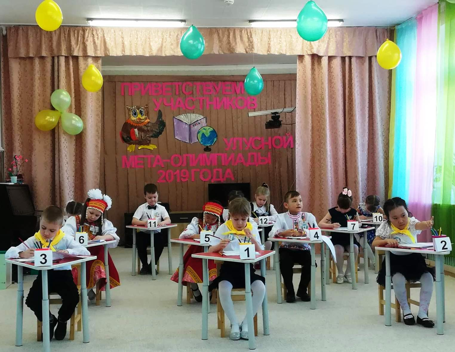 В апреле выпускники  дошкольных учреждений – проверили свои знания  в  улуной  мета-олимпиаде